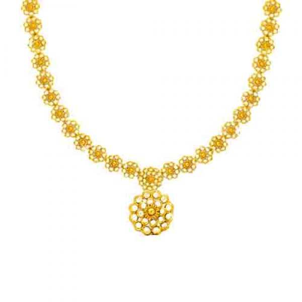 Necklace gold jewellery