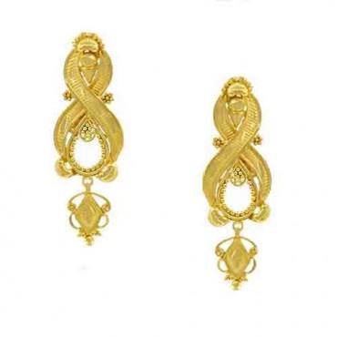 40e129533ef earring flower plain gold 9 gram